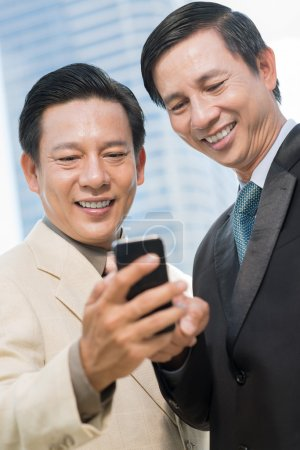 Businessmen with smartphone