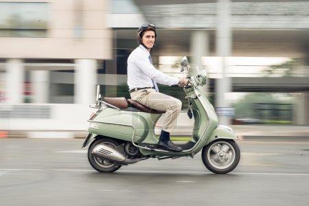 Businessman on wheels