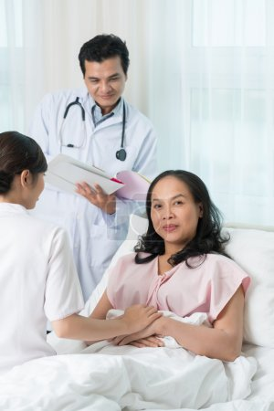 Woman at hospital