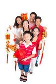Rodina přívětivý k oslavě tet dovolená