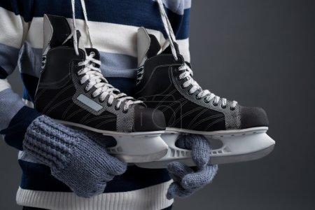 Man and skates