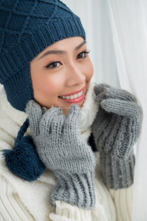 Lovely winter woman