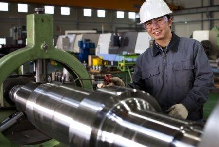 Asian male industrial mechanic