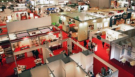 Photo for Trade show background, intentionally blurred post production - Royalty Free Image