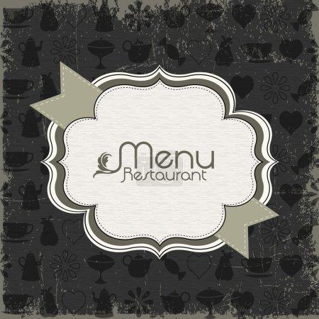 Restaurant menu design elements