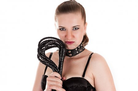 Sexy woman in the role of mistress