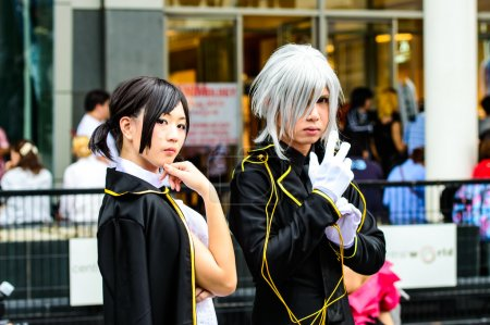 An unidentified Japanese anime cosplay pose in Japan Festa in Bangkok 2013