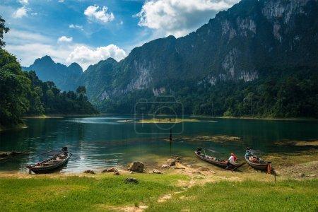 Cheo Lan lake. Khao Sok National Park. Thailand.