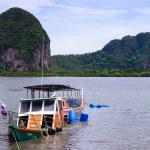 The passenger boat sank at Trang province ,Thailan...