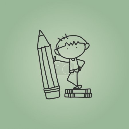 Illustration for Cartoon hand drawing back to school - Royalty Free Image