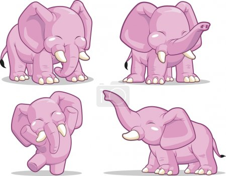Elephant in Several Poses - Standing, Dancing & Raising Its Trunk
