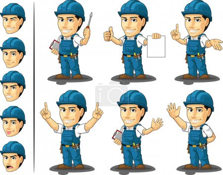 Technician or Repairman Mascot 3