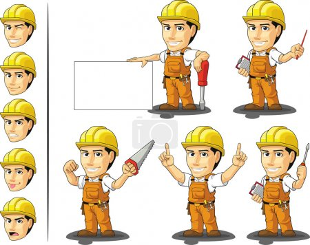 Industrial Construction Worker Mascot 3