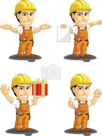 Industrial Construction Worker Customizable Mascot 11
