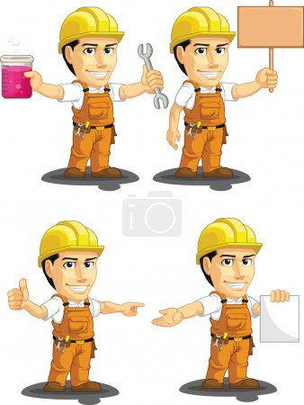 Industrial Construction Worker Customizable Mascot 12
