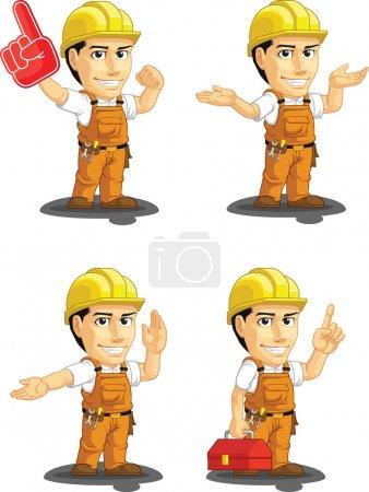 Industrial Construction Worker Customizable Mascot 14