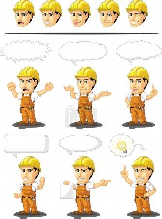 Industrial Construction Worker Customizable Mascot 17