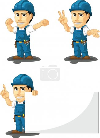 Technician or Repairman Customizable Mascot 7