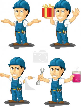 Technician or Repairman Customizable Mascot 11