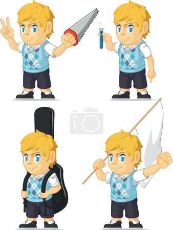 Blonde Rich Boy Customizable Mascot 7