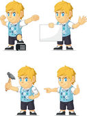 Blonde Rich Boy Customizable Mascot 17