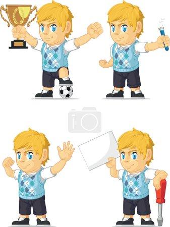 Blonde Rich Boy Customizable Mascot 19