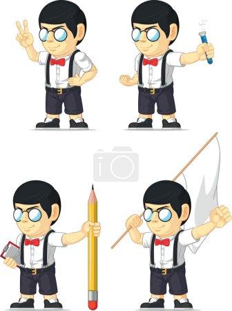 Nerd Boy Customizable Mascot 12