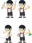 Nerd Boy Customizable Mascot 17