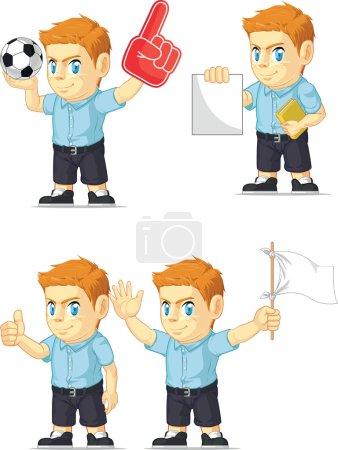 Red Head Boy Customizable Mascot