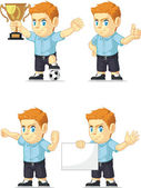 Red Head Boy Customizable Mascot 17