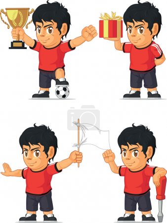Soccer Boy Customizable Mascot 3