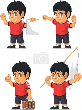 Soccer Boy Customizable Mascot 15
