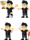 Spiky Rocker Boy Customizable Mascot 17