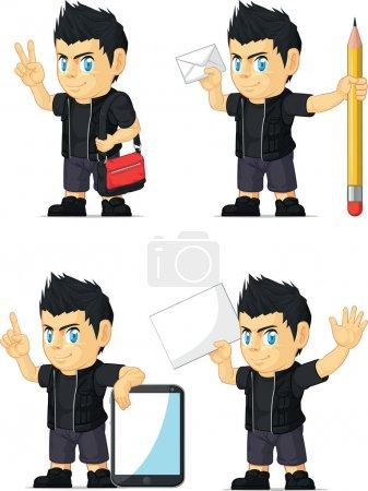 Spiky Rocker Boy Customizable Mascot 18