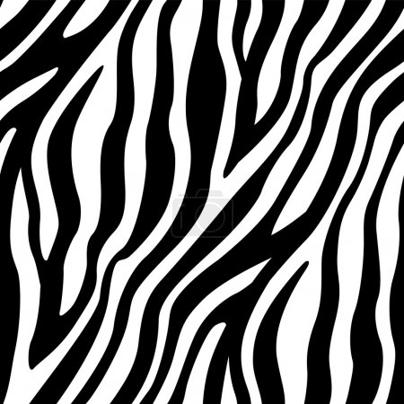 Illustration for A seamless pattern of zebra's stripes element. Available as a Vector in EPS8 format that can be scaled to any size without loss of quality. - Royalty Free Image