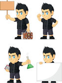 Spiky Rocker Boy Customizable Mascot 19