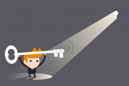 Illustration pour Clé du succès - image libre de droit