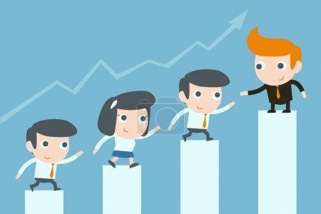 Illustration pour Travail d'équipe des entreprises - image libre de droit