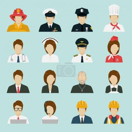 Illustration pour Ensemble d'icônes de profession, vecteur . - image libre de droit