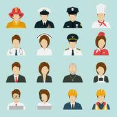 Set di icone di professione