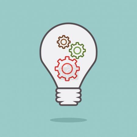 Illustration pour Idée ampoule avec 3 vitesses design minimal, vecteur - image libre de droit