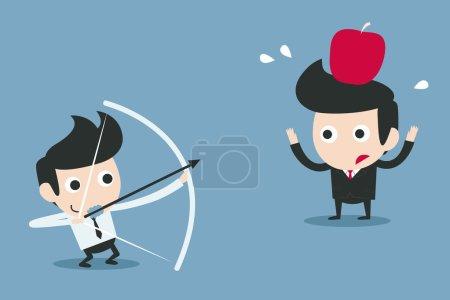 Risk, business partner concept