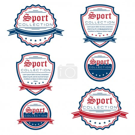 Vector set of colored sport emblems.