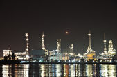 Refinery plant area