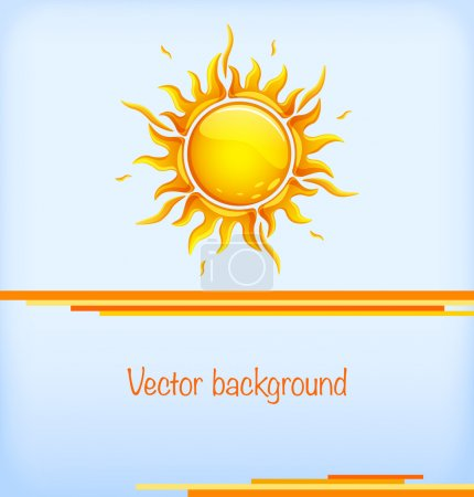 Background with hot sun
