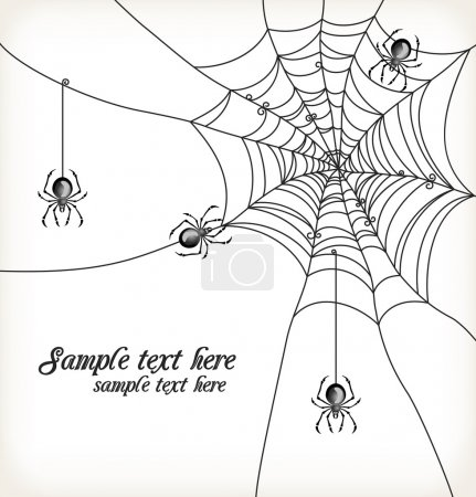 Background with spiders and cobweb
