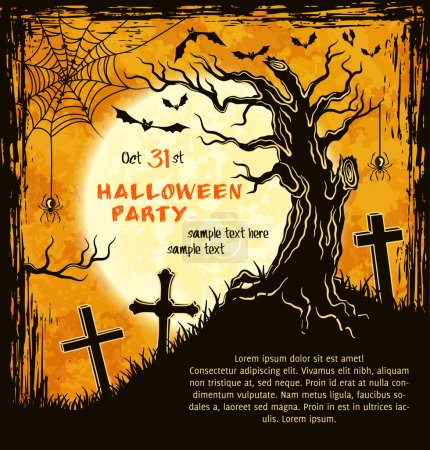Spooky card for Halloween