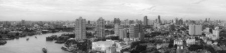 Photo pour Panorama paysage urbain, bâtiment moderne Bangkok Quartier des affaires . - image libre de droit