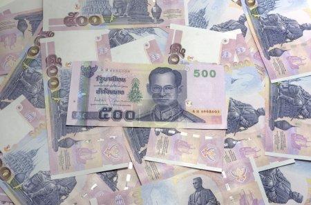 Thailand banknotes price of five hundred for backg...