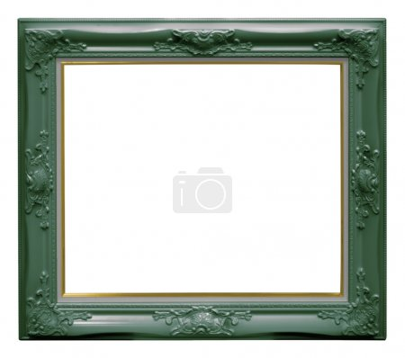 Photo for Luxury green frame isolated on white background with clipping paths. - Royalty Free Image